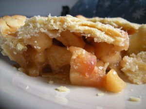apple cider pie slice