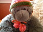 earflap hat with pom poms