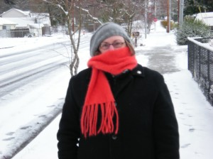 me on snow walk