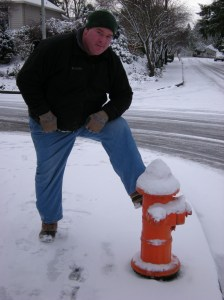 chris posing w/fire hydrant