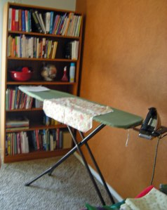 bookcase & ironing board