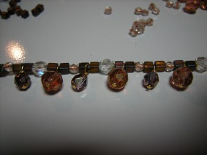 brown & bronze bracelet