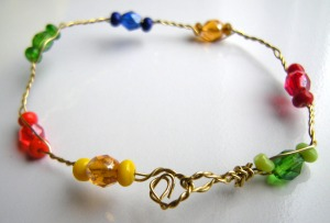 twisted wire bead bracelet