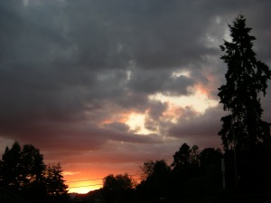 cloudy nite sky