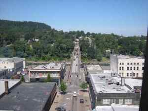 Elevator View over West Linn Bridge