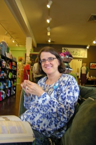 Major Knitter knitting a sock